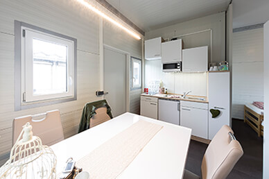 Residential Container - Kitchenette & Living Room Area